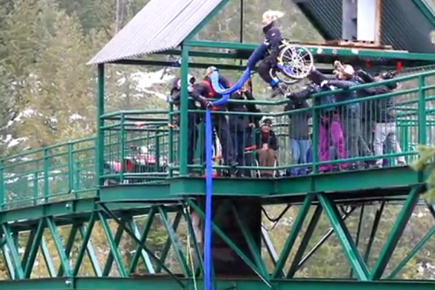 Bungee Jumping in Wheelchair