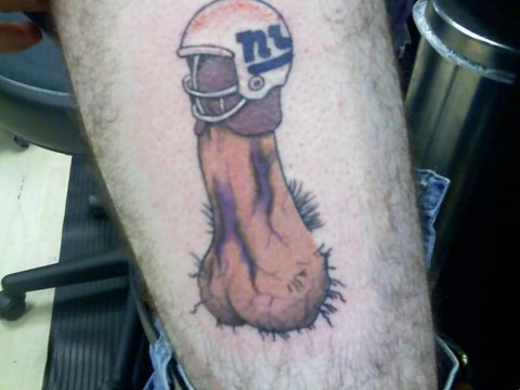 New York Giants Junk Tattoo