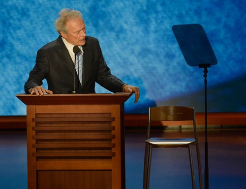 Clint Eastwood with chair
