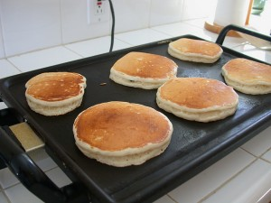 pancakes on grill