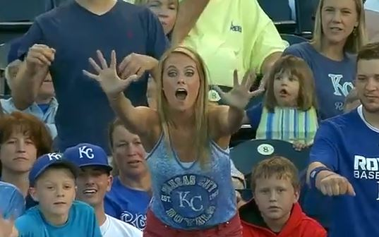 Cute Girl At KC Royals Game