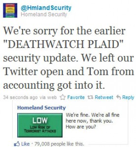 FB and Twitter Homeland Security