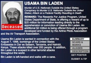 FBI Updates Most Wanted Lists to Reflect Osama bin Ladens Death 