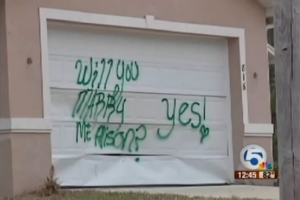 Man Vandalizes Garage With Spray-Painted Marriage Proposal [VIDEO]
