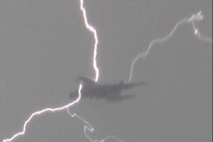 Watch Lightning Strike a Plane