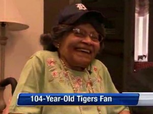 Detroit Tigers Fan Celebrates 104th Birthday at First Game Since 1936
