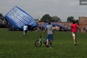 Freak Bounce House Accident Injures 13 [VIDEO]