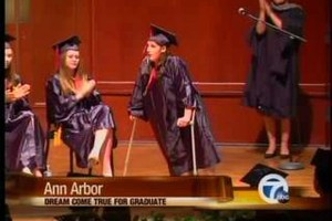 Student Takes First Steps At Graduation
