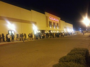"This was the line for the midnight premiere of ""Harry Potter and the Deathly Hallows Part 2"""