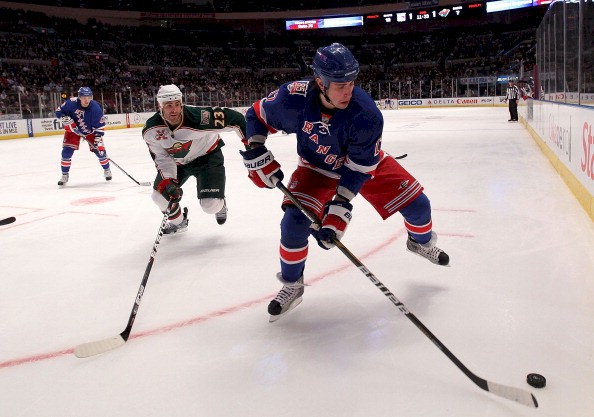 The Minnesota Wild play the New York Rangers