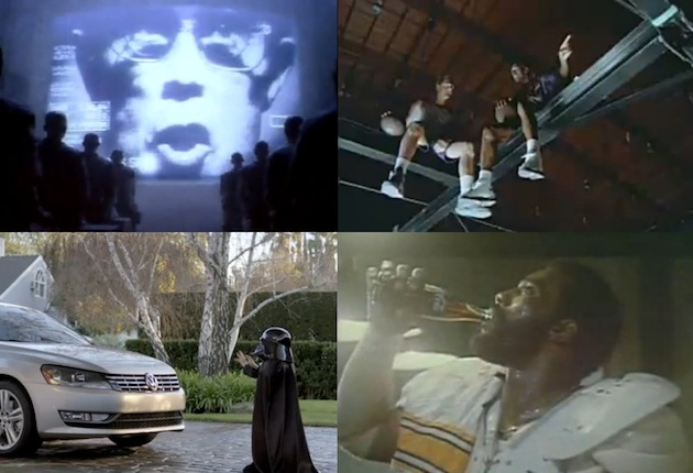 apple 1984 macintosh michael jordan larry bird mcdonald's darth vader volkswagon mean joe greene coke commercials ads super bowl