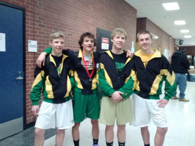 Korey Keske, Taylor Rau, Chris Keske, Austin Walz.