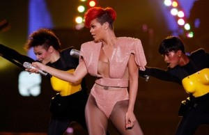 Rihanna In Concert At Mandalay Bay In Las Vegas