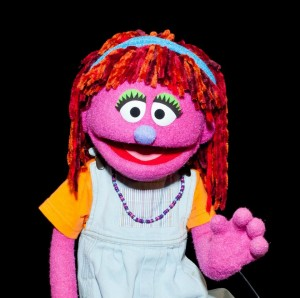 Lily, the new Sesame Street Muppet!