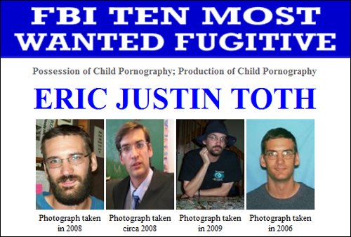 Top Ten Most Wanted List