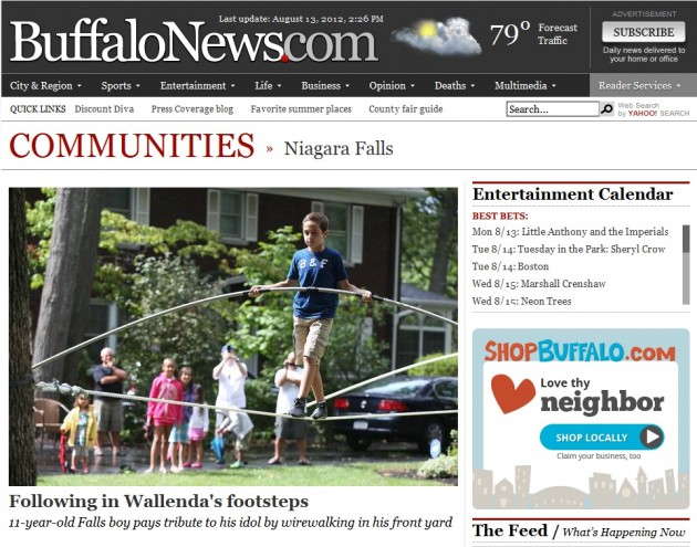 Nik Wallenda Buffalo News