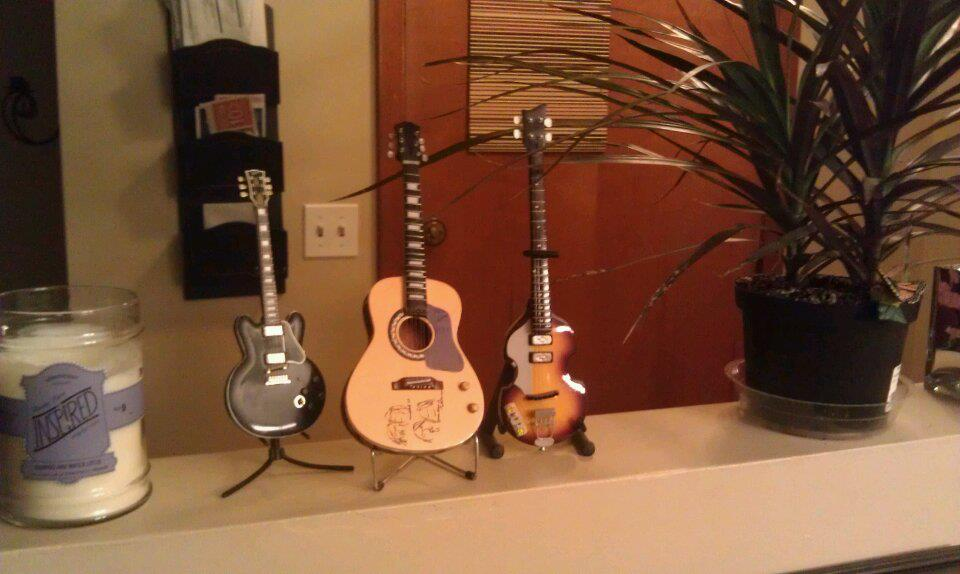 mini beatles guitars