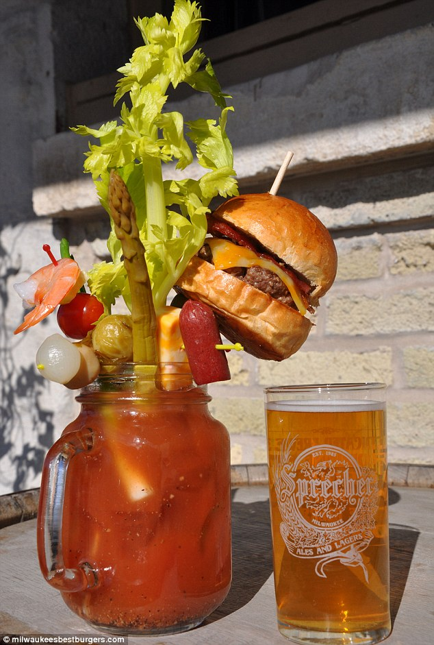 Bloody Mary Bacon Cheeseburger