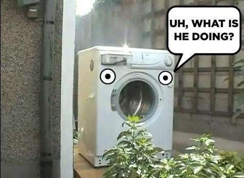Self Destructing Washing Machine (You Tube)