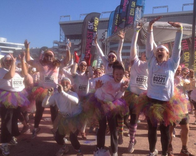 Color Run- Team Laughter and Disaster