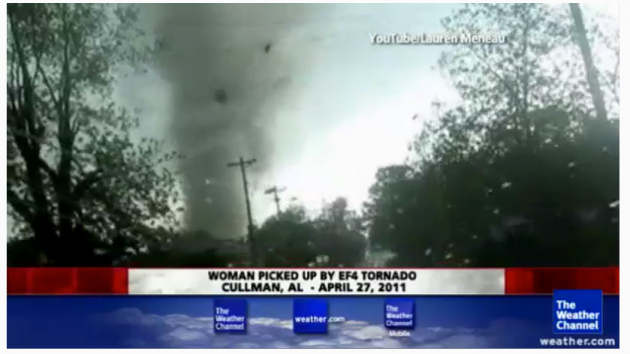 Tornado in Cullman, AL (Weather Channel Facebook)