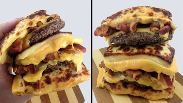 bread cheese burger