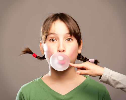 chewing gum bubble