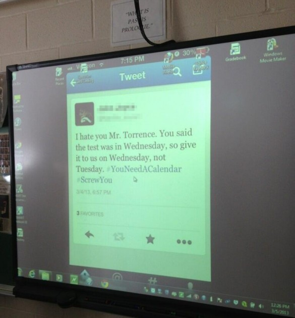 Twitter Teacher Post (Photo via XCoaster/Reddit)
