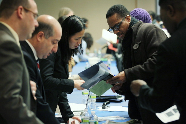 Job Seekers Look For Work At Career Fair In New York City