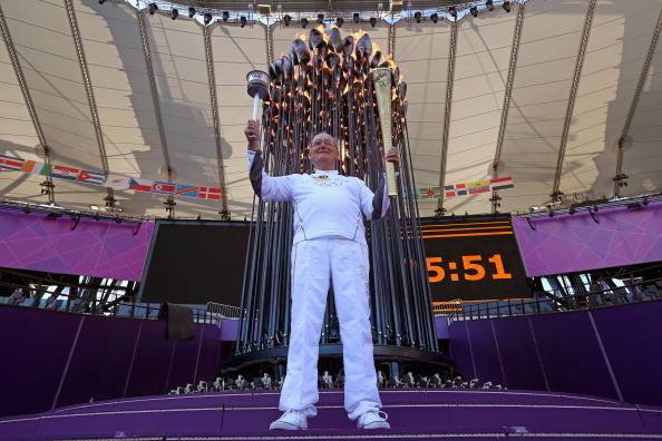 Olympics Day 3 - Olympic Flame is Repositioned