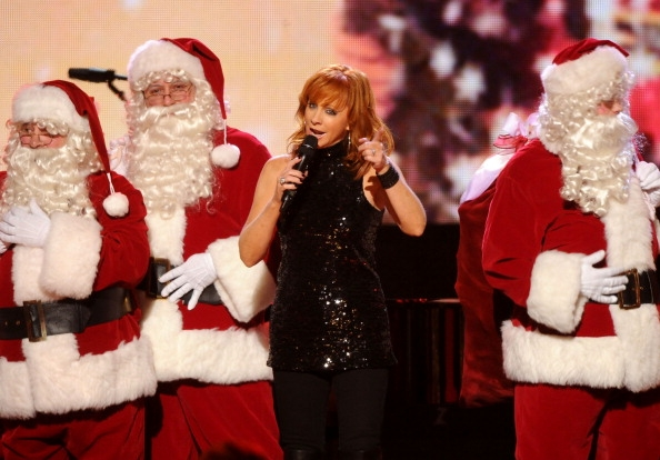 reba with santas