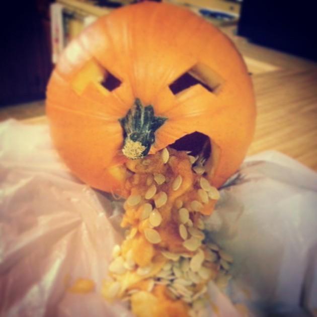 Puking Pumpkin Halloween