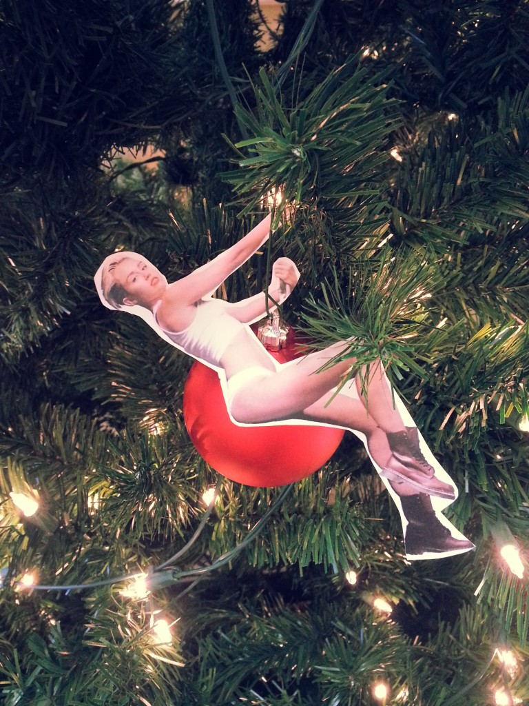 Miley Cyrus Wrecking Ball Ornament Christmas Tree