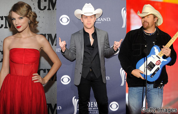 Taylor Swift, Justin Moore, Toby Keith