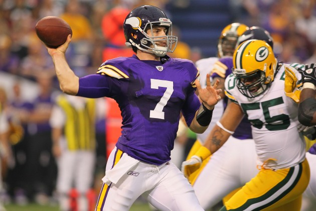 Will Christian Ponder be leading the Vikings in 2016? - Photo by Adam Bettcher /Getty Images