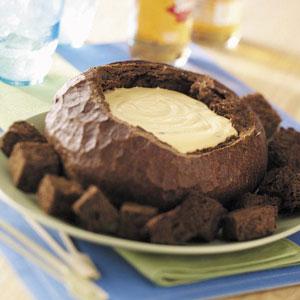 Taste of Home's Beer Cheese Dip in a Bread Bowl