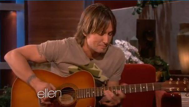 keith urban performs on Ellen