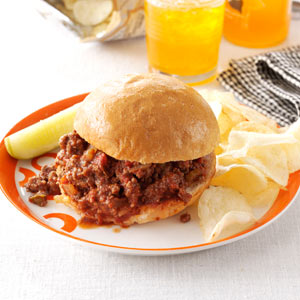 taste of home super sloppy joe recipe
