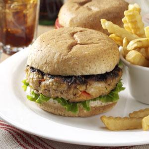 Taste of Home's Garden Turkey Burger