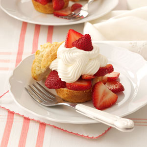 strawberry shortcake cups from Taste of Home