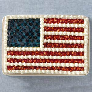 Taste of Home Flag Cake