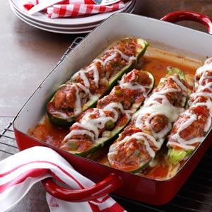 Taste of Home Stuffed Zucchini
