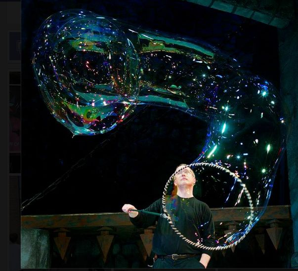 bubble artist, keith michael johnson