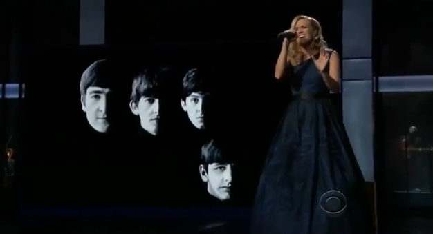 carrie underwood tribute to beatles at emmy awards