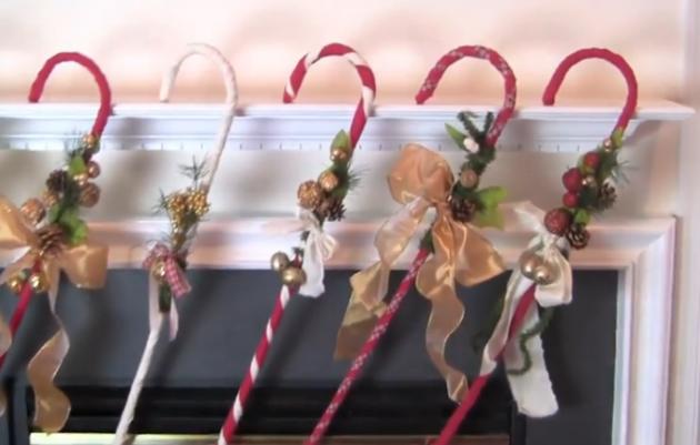 DIY Candy Cane Decoration