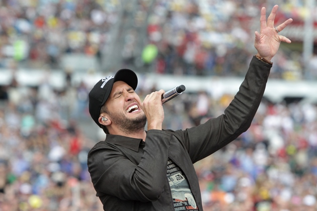 Luke Bryan at Daytona 500