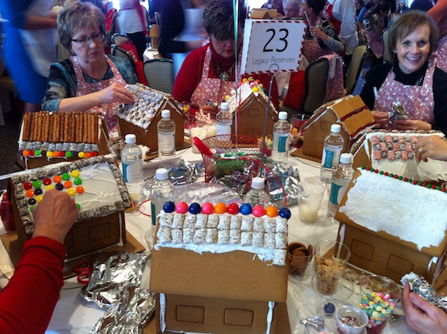 Guests Decorate Gingerbread Houses for Charity