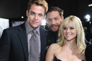Chris Pine, Tom Hardy and Reese Witherspoon at This Means War Premiere