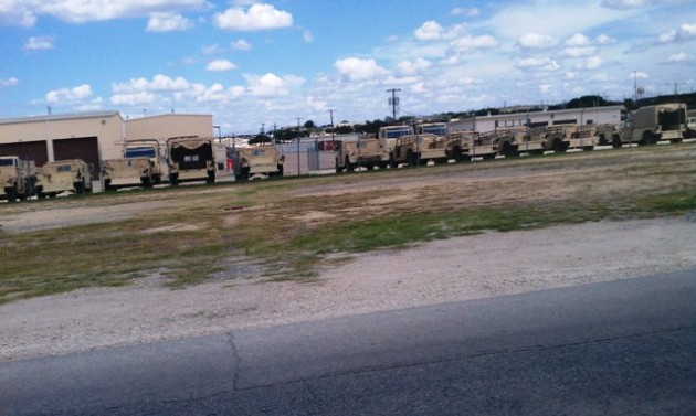 Rows of vehicles - Fort Hood, TX