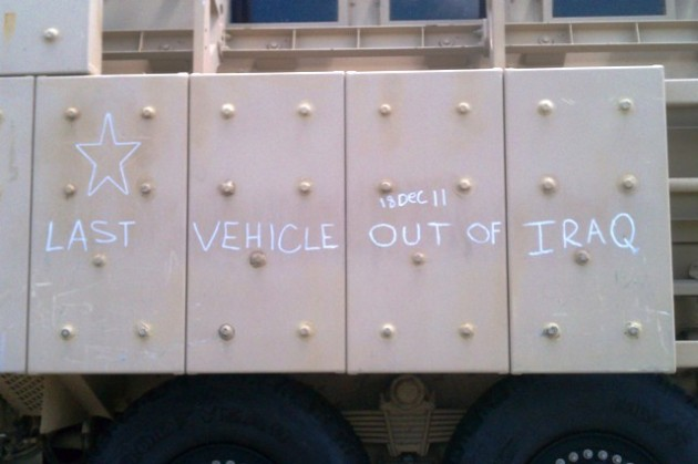 Last vehicle out of Iraq - Fort Hood, TX
